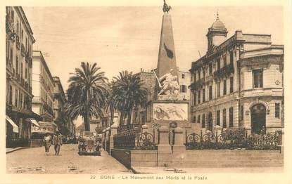 """CPA ALGERIE """"Bone, le monument aux morts"""""""