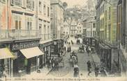 """29 Finistere CPA FRANCE 29 """"Morlaix, rue Carnot et vieilles maisons de la place de Viarmes"""""""