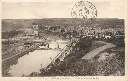 """CPA FRANCE 08 """"Montey Saint Pierre, pont du chemin de fer"""""""