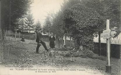 """CPA FRANCE 08 """"Floing, cimetière"""" / VOIR VERSO REFERENDUM"""