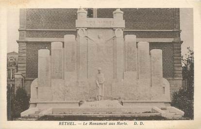 "CPA FRANCE 08 ""Rethel, le monument aux morts"""