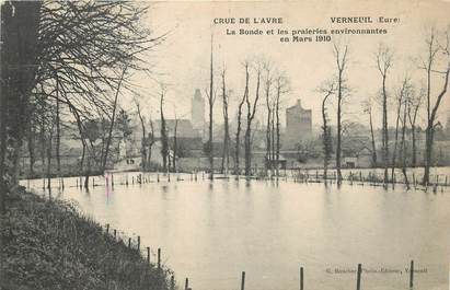"CPA FRANCE 27 ""Verneuil, crue de l'Avre"""
