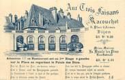 """21 Cote D'or CPA FRANCE 21 """"Dijon, restaurant aux trois Faisans"""""""