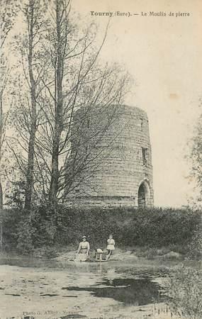 """CPA FRANCE 27 """"Tourny, le moulin de pierre"""""""