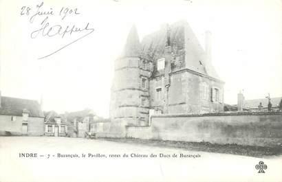 """CPA FRANCE 36 """"Buzançais, le pavillon, restes du Chateau des Ducs de buzançais"""""""