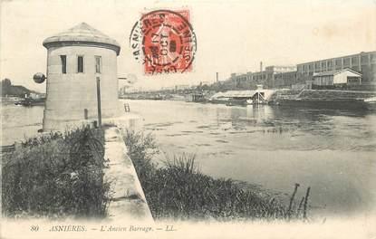 """CPA FRANCE 92 """"Asnières, l'ancien barrage"""""""