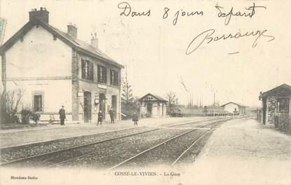 """/ CPA FRANCE 53 """"Cossé le Vivien, la gare"""""""