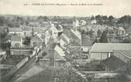 """53 Mayenne / CPA FRANCE 53 """"Cossé le Vivien, rue de la Butte et le cimetière"""""""