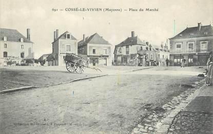 """/ CPA FRANCE 53 """"Cossé le Vivien, place du marché"""""""