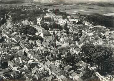 """/ CPSM FRANCE 52 """"Bourbonne les Bains, vue aérienne sur le centre de la ville """""""