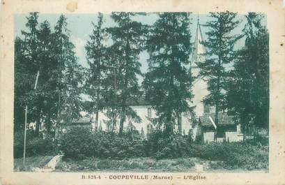 """/ CPA FRANCE 51 """"Coupeville, l'église"""""""