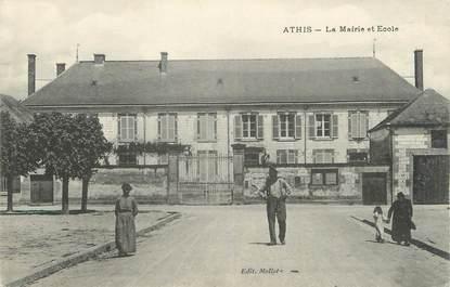 """/ CPA FRANCE 51 """"Athis, la mairie et école"""""""