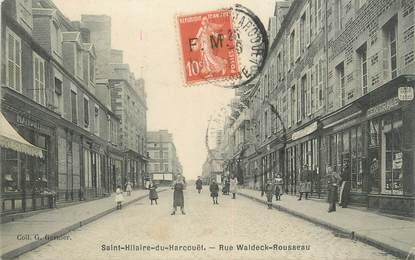 """/ CPA FRANCE 50 """"Saint Hilaire Du Harcouet, rue Waldeck Rousseau"""""""