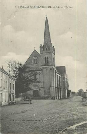 """/ CPA FRANCE 49 """"Saint Georges Chatelairon, l'église"""""""