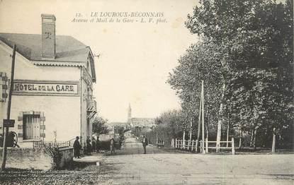 """/ CPA FRANCE 49 """"Le Louroux Beconnais, avenue et mail de la gare"""""""