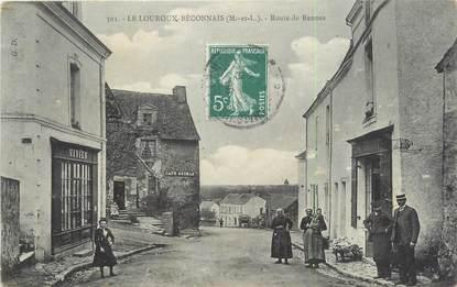 """/ CPA FRANCE 49 """"Le Louroux Beconnais, route de Rennes"""""""