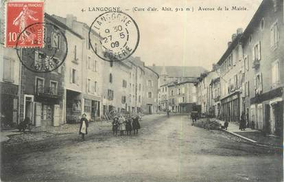 """/ CPA FRANCE 48 """"Langogne, avenue de la mairie"""""""