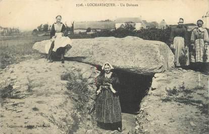 """/ CPA FRANCE 56 """"Locmariaquer, un dolmen"""""""