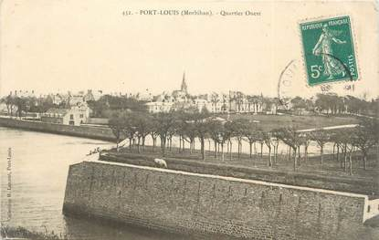 "/ CPA FRANCE 56 ""Port Louis, quartier Ouest"""