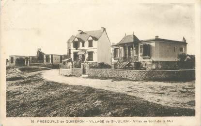 """/ CPA FRANCE 56 """"Village de Saint Julien, villas au bord de la mer"""""""
