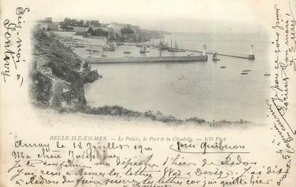 """/ CPA FRANCE 56 """"Belle Ile en Mer, le palais, le port et la citadelle"""""""