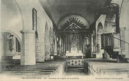 """/ CPA FRANCE 56 """"Belle Ile en Mer, intérieur de l'église de Locmaria"""""""