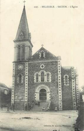 """/ CPA FRANCE 56 """"Belle Isle, Sauzon, l'église"""""""