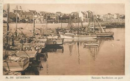 "/ CPA FRANCE 56 ""Quiberon, bateaux sardiniers au port"""