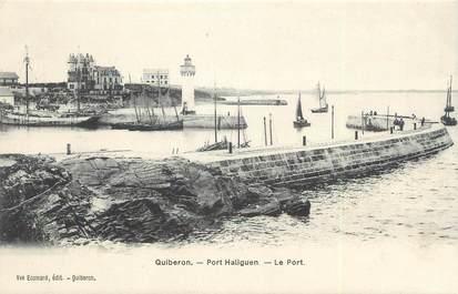 """/ CPA FRANCE 56 """"Quiberon, Port Haligen, le port"""""""