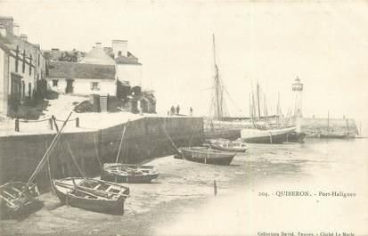 """/ CPA FRANCE 56 """"Quiberon, Port Haligen"""""""