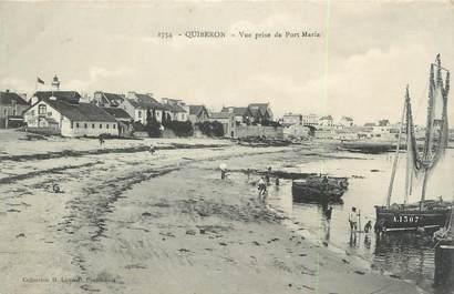 "/ CPA FRANCE 56 ""Quiberon, vue prise du Port Maria"""