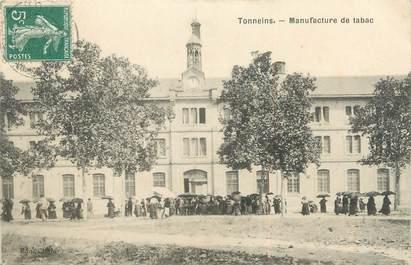 "/ CPA FRANCE 47 ""Tonneins, manufacture de tabac"""