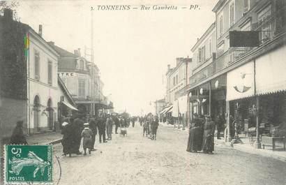 """/ CPA FRANCE 47 """"Tonneins, rue Gambetta """""""