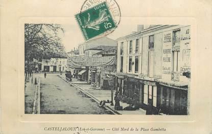 "/ CPA FRANCE 47 ""Casteljaloux, côté Nord de la place Gambetta"""