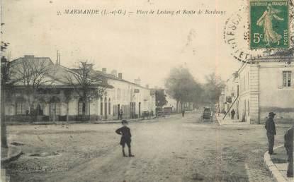 """/ CPA FRANCE 47 """"Marmande, place de Lestang et route de Bordeaux"""""""