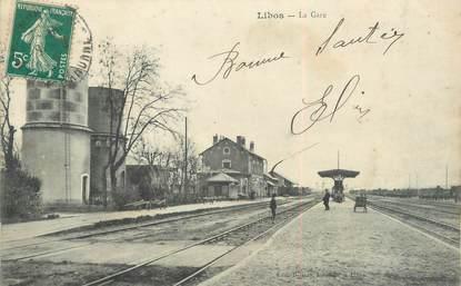 """/ CPA FRANCE 47 """"Libos, la gare"""""""