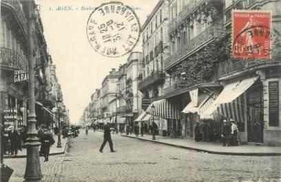 """/ CPA FRANCE 47 """"Agen, Boulevard de la République """""""