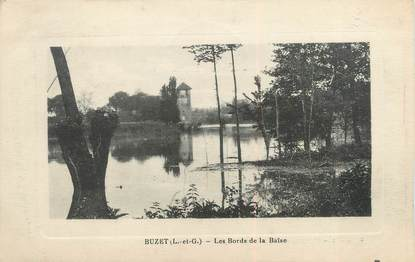 """/ CPA FRANCE 47 """"Buzet, les bords de la Baïse"""""""