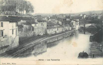 "/ CPA FRANCE 47 ""Nérac, les tanneries"""