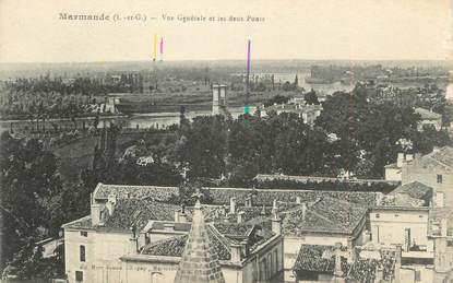 """/ CPA FRANCE 47 """"Marmande, Vue générale et les deux ponts"""""""