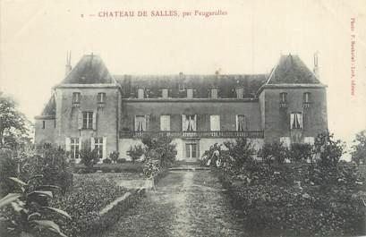 """/ CPA FRANCE 47 """"Château de Salles, par Feugarolles"""""""