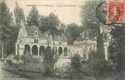 """/ CPA FRANCE 47 """"Miramont, château de Frémauret"""""""