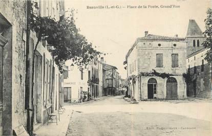 """/ CPA FRANCE 47 """"Beauville, place de la poste"""""""