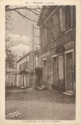 """/ CPA FRANCE 47 """"Bouglon, le centre de la ville et la mairie"""""""