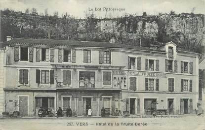 """/ CPA FRANCE 46 """"Vers, hôtel de la truite dorée """""""