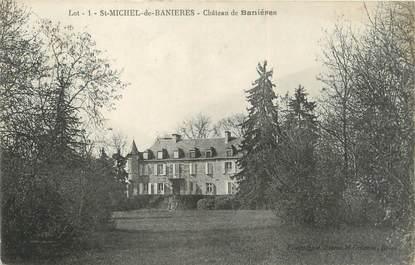 """/ CPA FRANCE 46 """"Saint Michel de Banières, château de Banières"""""""