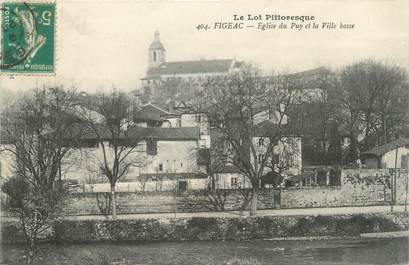 """/ CPA FRANCE 46 """"Figeac, église du Puy et la ville basse"""""""