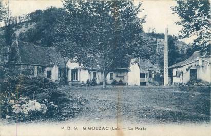 "/ CPA FRANCE 46 ""Gigouzac, la poste"""