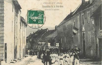 """CPA FRANCE 39 """"Orgelet, procession de la Fête Dieu"""""""