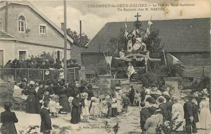 """CPA FRANCE 52 """"Colombey les Deux Eglises, la Fête du Saint Sacrement, le reposoir"""""""